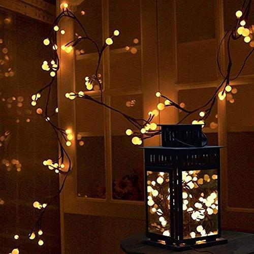 YMING String Lights, 8.3Ft Led Lights, Outdoor Lights Plug in for Bedroom Christmas Garden Warm White