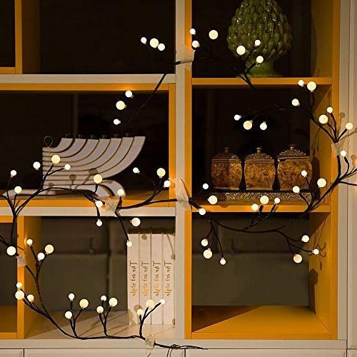 YMING 8.3Ft Led Lights, Outdoor Lights in Bedroom Christmas Halloween Patio Garden Wedding Warm White