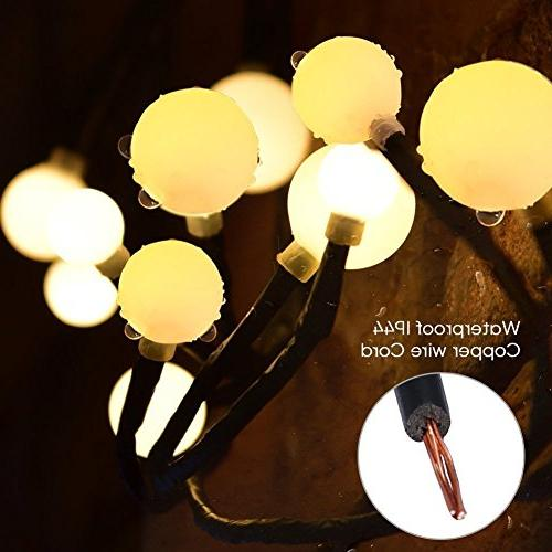 YMING Globe 8.3Ft Modes Led Decorative Lights for Bedroom Garden Wedding White