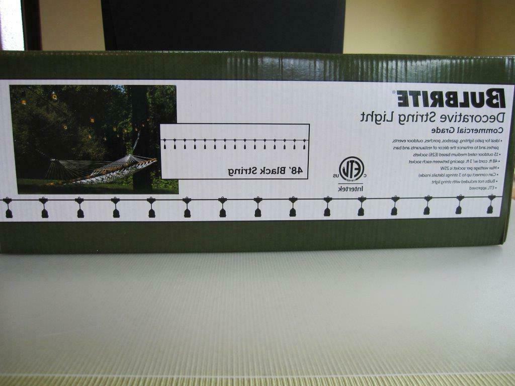 vintage outdoor garden string light kit 48ft