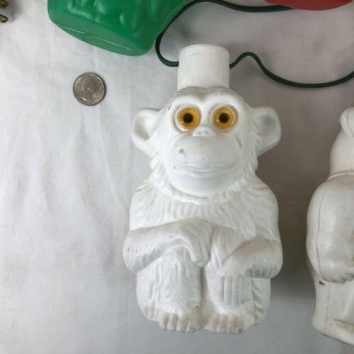 VTG Blow Mold Owls Monkeys RV