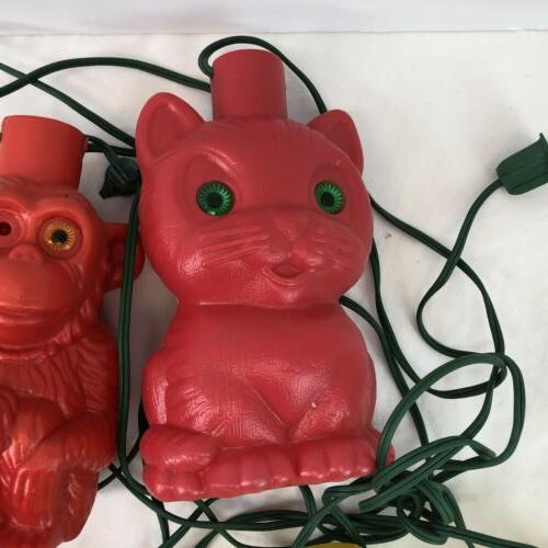 VTG Blow Mold Plastic Monkeys Bears RV