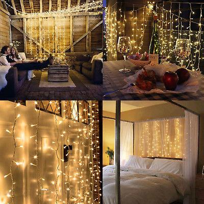 warm white 100led 10m fairy curtain string