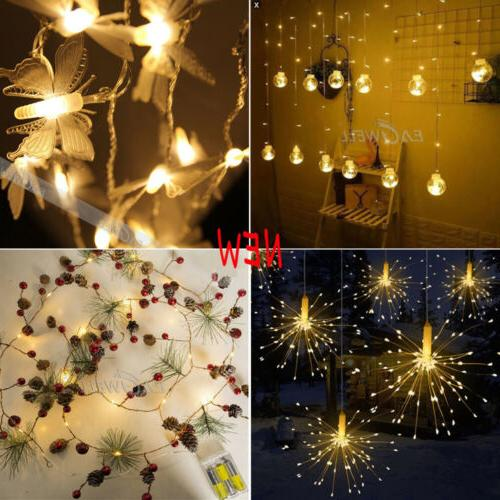 Warm Christmas String Lights Wedding Party