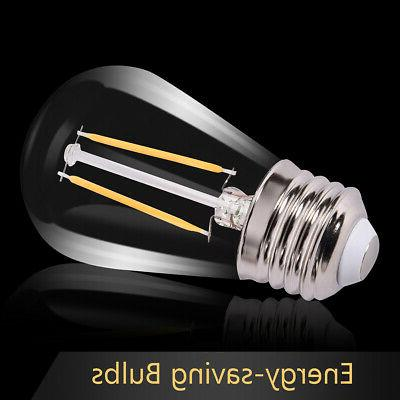 48FT Outdoor Commercial String Lights Bulbs