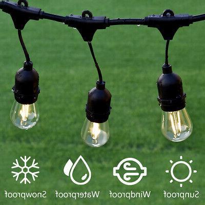 48FT LED Commercial Grade Patio String Lights