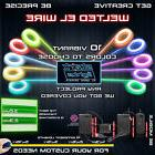 Welted Neon LED Light Glow EL Wire Control String Strip Rope