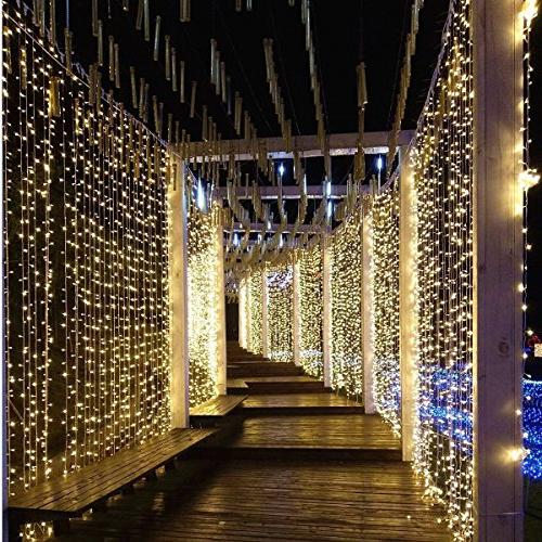 Neretva Curtain Icicle Lights, Fairy Lights, Modes Fairy Party Home Patio Decorative
