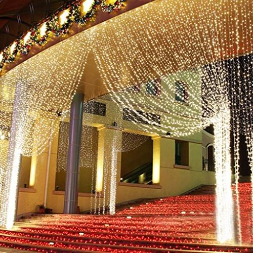 Neretva Lights, 600 LEDs String Modes Linkable , Icicle Party Wedding Home Decorative Lights