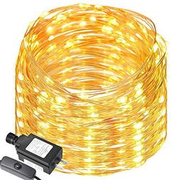 LE 200 LED 65ft Copper Wire String Lights, Warm White LED St