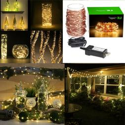 LE 20M 65FT 200 LED String Copper Wire Fairy Lights For Chri