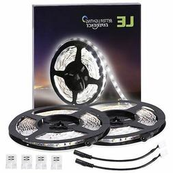 LE 2 Pack 16.4ft 2835 LED Light Strip SMD Daylight 12V Tape
