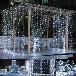 LE LED Curtain Lights, 9.8x9.8ft, 306 LED, 8 Modes, Plug in