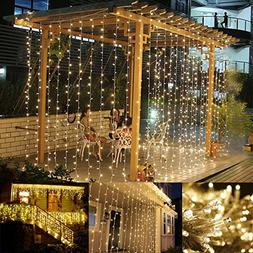 LE LED Curtain Lights, 9.8x9.8ft, 306 LED, 8 Modes, Plug in