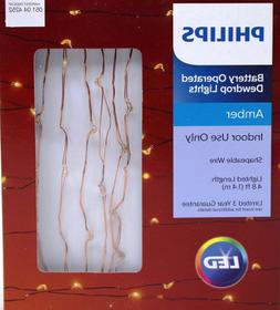 led 30ct battery operated dewdrop copper wire