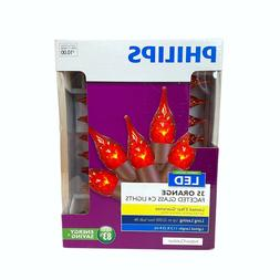 Philips LED 35 Orange Faceted Glass C4 Lights Indoor / Outdo