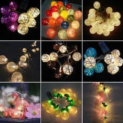 LED Battery Powered String Fairy Lights Festival Wedding Par