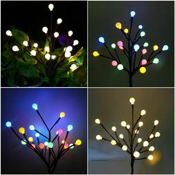 LED Blossom Flower Solar Fairy String Lights Outdoor Garden