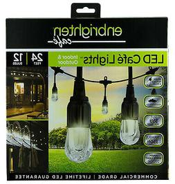 JASCO PRODUCTS COMPANY LED Caf  Lights, 12-Bulb, 24-In. 3166