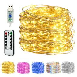 LED Copper Wire String Lights USB Plug-in Fairy Lights with