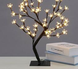 LED Crystal Blossom Tree Light Night Table Lamp For Christma