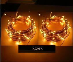 LED Fairy Lights String Lights Plug-In Electric 100 Warm LED