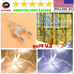 LED Fairy String Lights Curtain for Bedroom White Plug In In