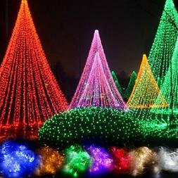 LED Fairy String Lights Wedding Party Net Mesh Curtain Lamp