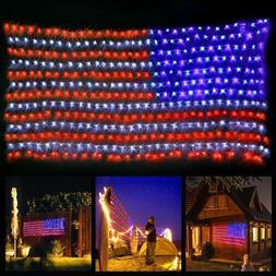 LED Flag Net Lights American Flag Light For Festival Indoor/
