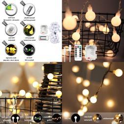 LED Globe String Lights Battery & USB Operated 50 Decorative