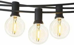 LED Globe String Lights Outdoor, Shatterproof 35ft G40 Light