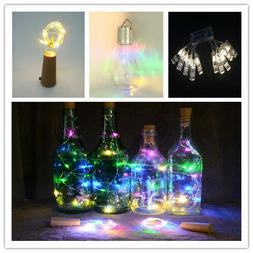 LED little Wine Bottle Cork Shaped String Lights Night Fairy