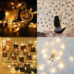 Led Photo Clip String Lights Indoor Seasonal Lighting Outdoo