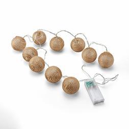 Elements LED Plastic Balls String Light Set, 10-Count