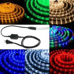 "LED Rope Light 1/2"" Thick Christmas Lighting Stripes XMAS 10"