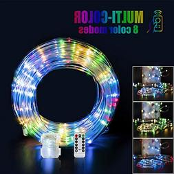 Ollivage LED Rope Lights Outdoor String Light with 120 LEDs,