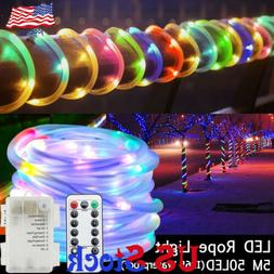 LED Silicon Rope String Light 5M50LED Fairy Lights with IR r
