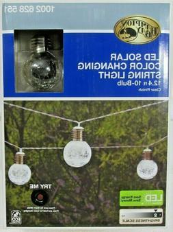 Hampton Bay LED Solar Color Changing String Lights 12ft 10 C