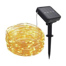 Led Solar Copper Wire Lamp Outdoor Solar Fairy <font><b>Ligh