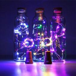 LED Solar Fairy String Lights Wine Bottle Copper Cork Wire L