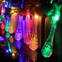 LED Solar String Lights Outdoor Garden Yard Decor Lamp Water