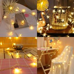 LED Stars String Lights 17Ft/5M 50Leds Decorative Wire Light