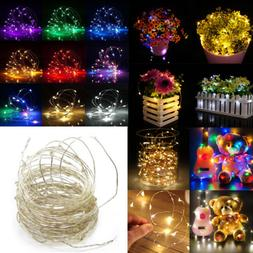 LED String Copper Wire Fairy Lights Battery USB 12V Xmas Par