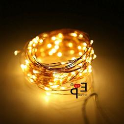 LED String Fairy Lights Copper Wire Battery Powered Waterpro