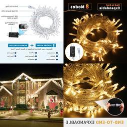 LED String Light 33Ft 100 Leds W Controller Fairy Lights Dec
