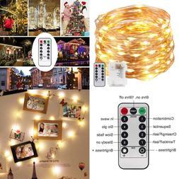 LED String Lights 33 Ft W 100 Leds Led Fairy Christmas 8 Mod