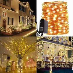 LED String Lights 66Ft W 200 Leds Waterproof Outdoor Indoor