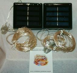 Vmanoo LED String Lights 72 Feet 200 Solar Powered Copper Wi