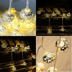LED String Lights Battery Operated 40 GOLD Moroccan For Bedr