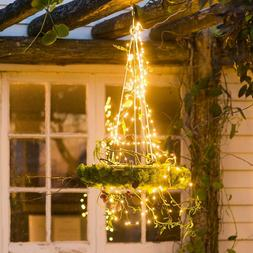 LED String Lights Fairy 280 Vines Copper Wire Branch Christm